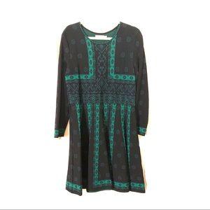 Eliza J fit and flare jacquard knit dress